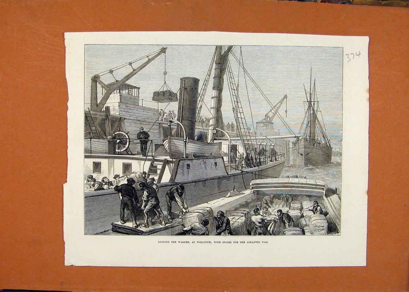 Print Loading Warree Wollwich Ashantee War London News 748260 Old Original
