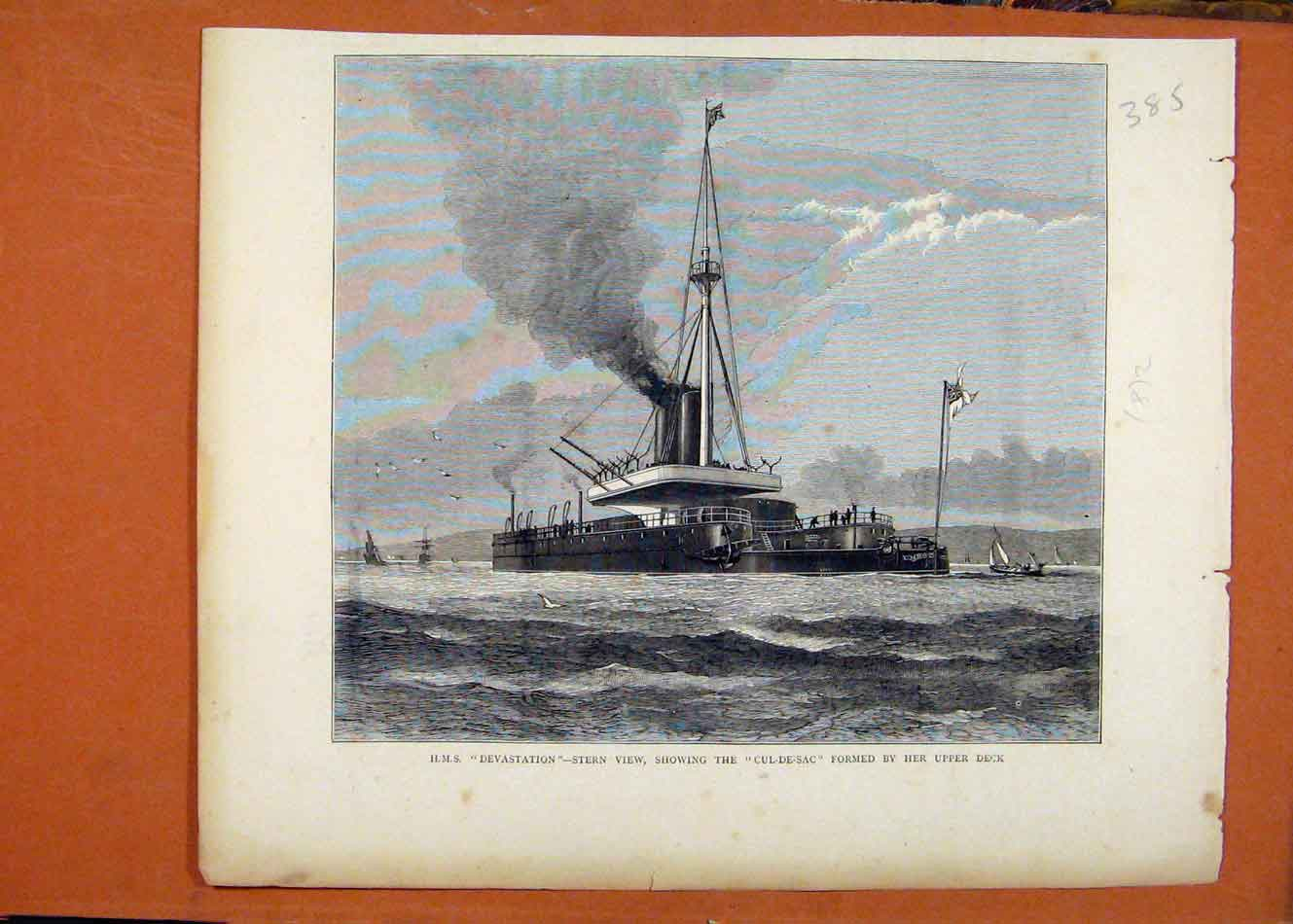 Print Hms Devastation C1872 Illustrated London News 858260 Old Original