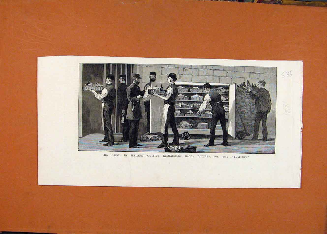 Print Ireland Kilmainham Goal Dinner C1881 358260 Old Original