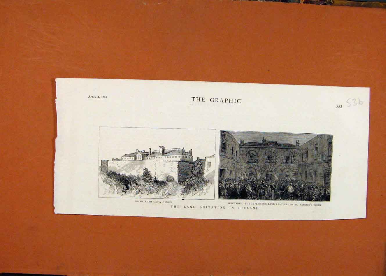 Print Land Agitation Ireland C1881 The Graphic 368260 Old Original