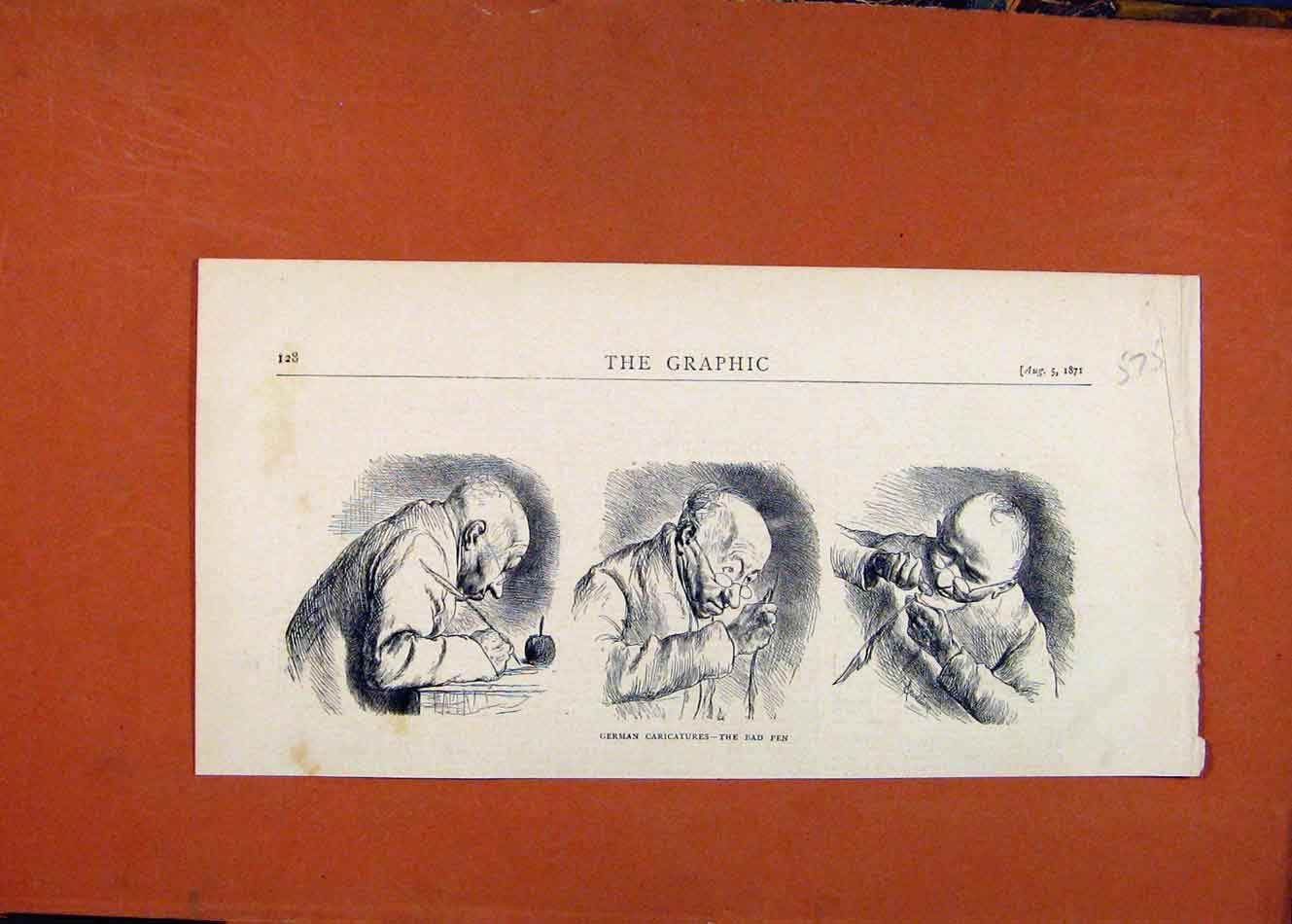 Print German Caricatures Bad Ppen C1871 The Graphic 758260 Old Original