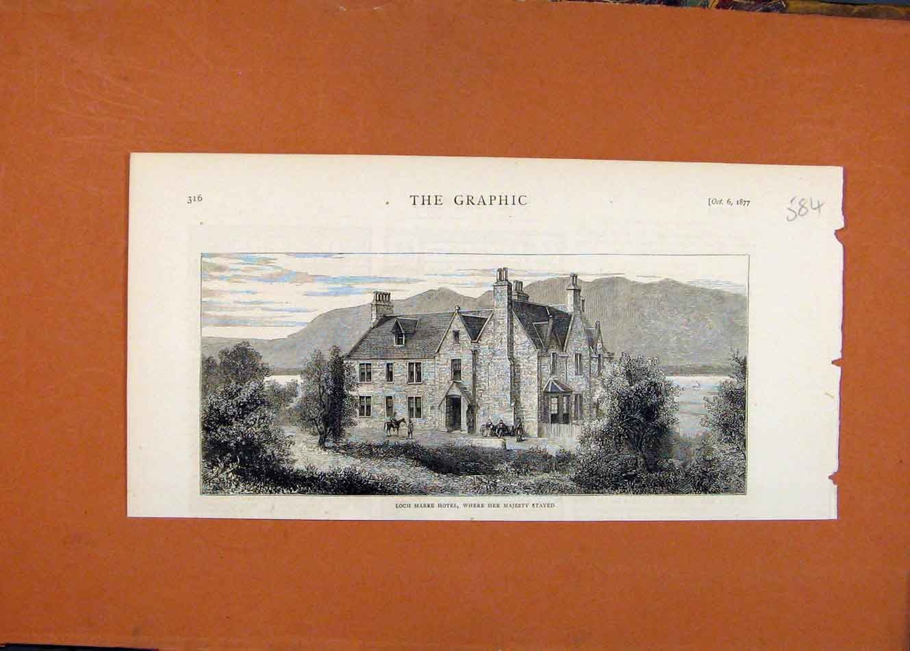 Print Loch Maree Hotel Her Majesty Stayed C1877 The Graphic 848260 Old Original