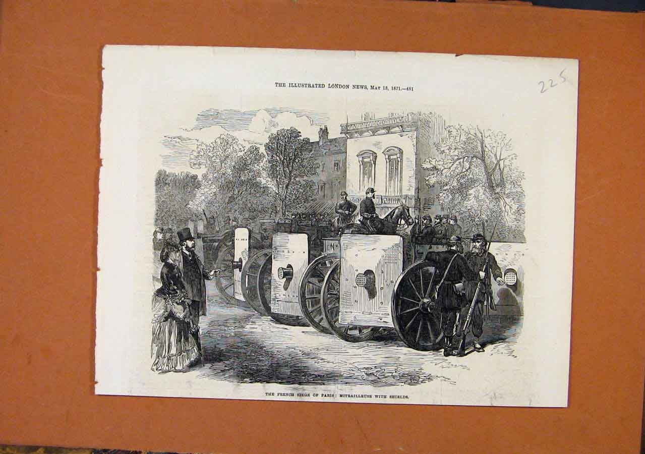 Print French Siege Paris C1871 Illustrated London News 258270 Old Original