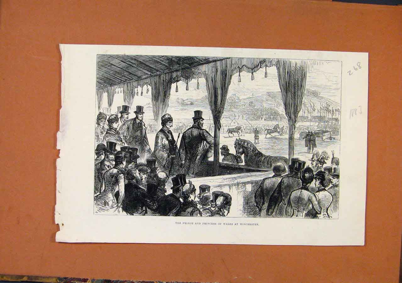Print Prince Princess Wales Winchester C1883 London News 688270 Old Original