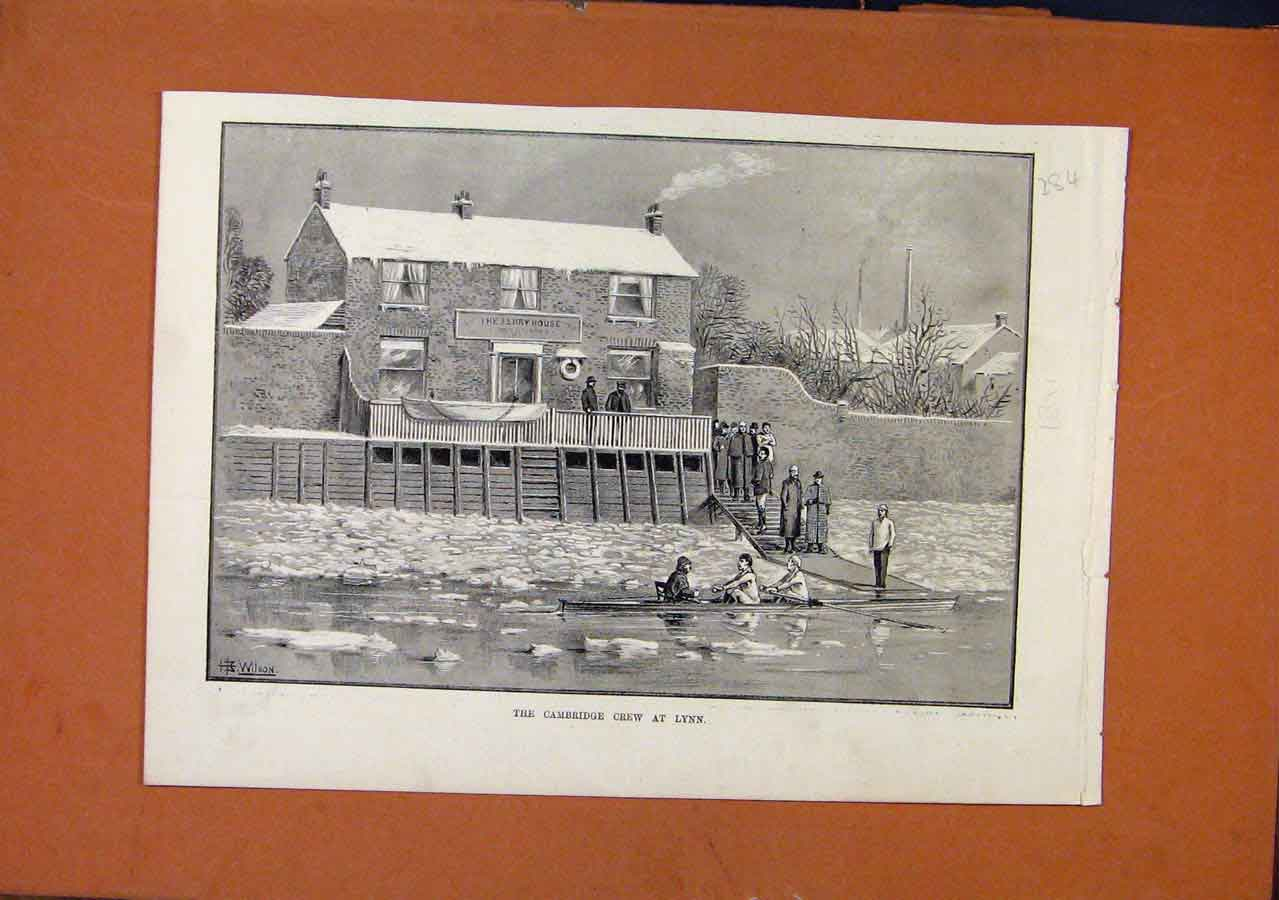 Print Cambridge Crew At Lynn C1891 Illustrated London News 848270 Old Original