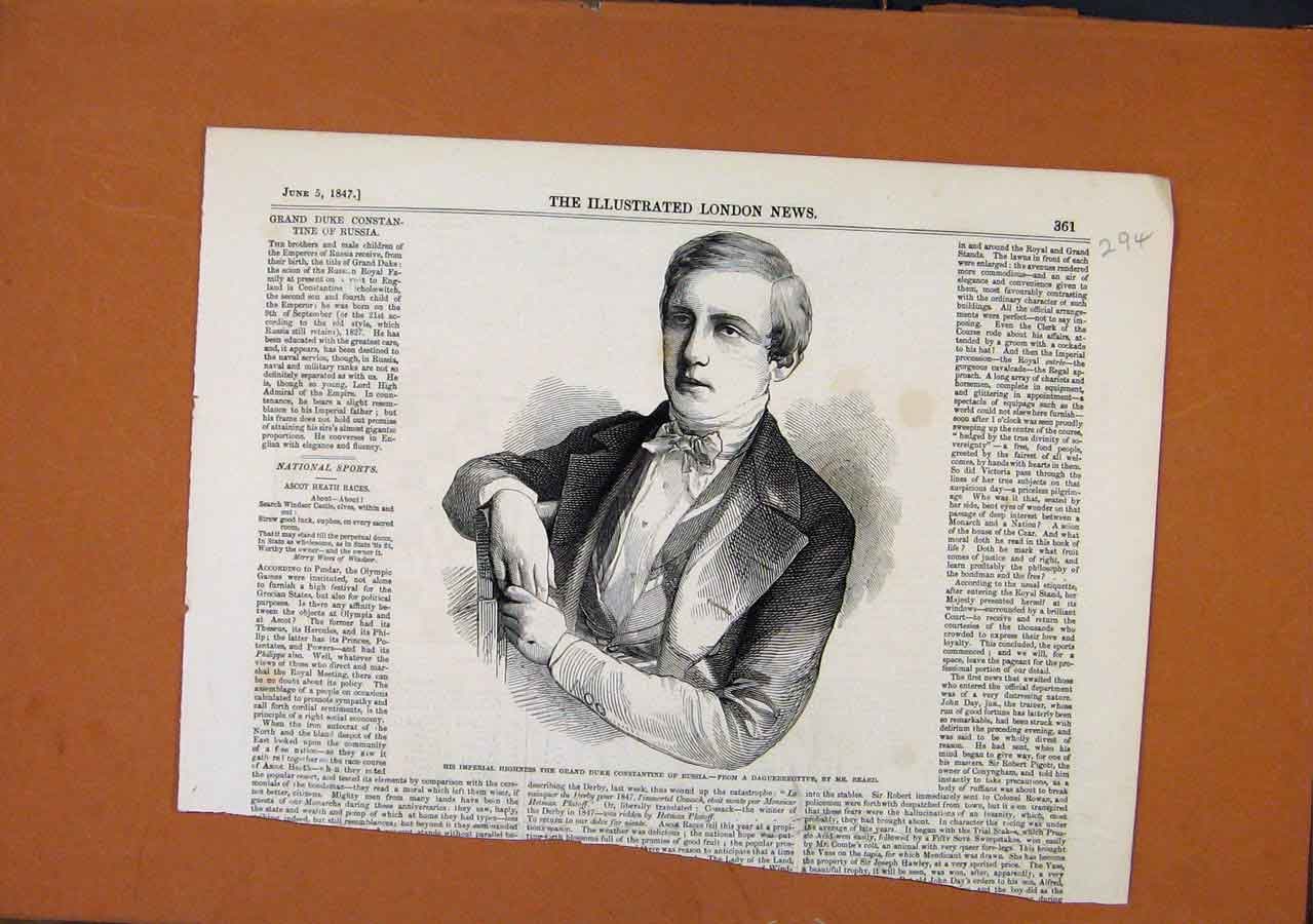 Print Heas The Months C1847 Illustrated London News 938270 Old Original