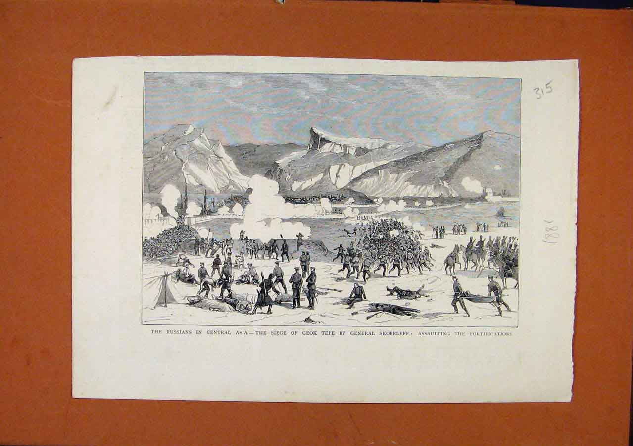 Print Russians Central Asia C1881 The Graphic 158270 Old Original