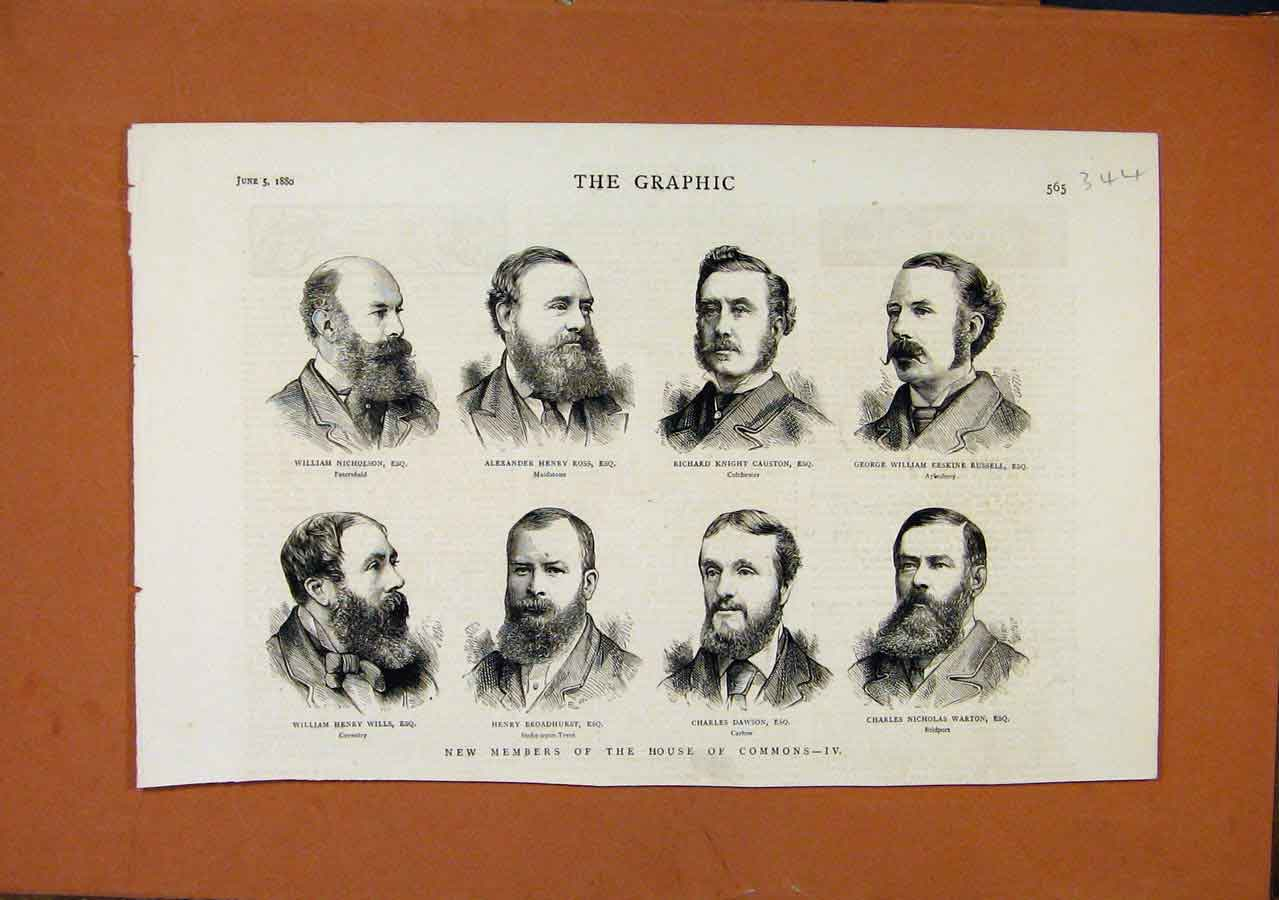 Print The Graphic Members House Commons Iv C1880 448270 Old Original