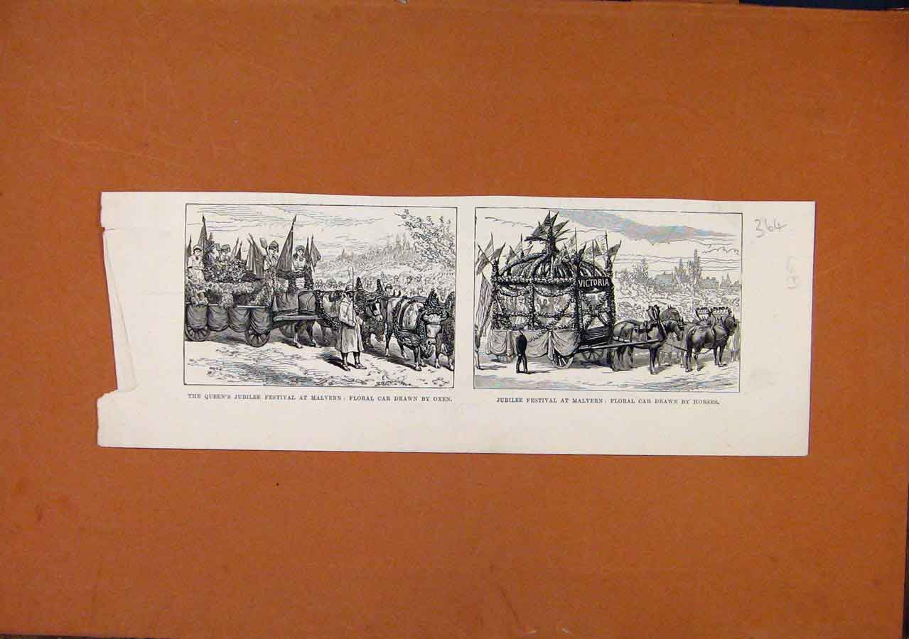 Print C1887 Queens Jubilee Festival Malvern London News 648270 Old Original