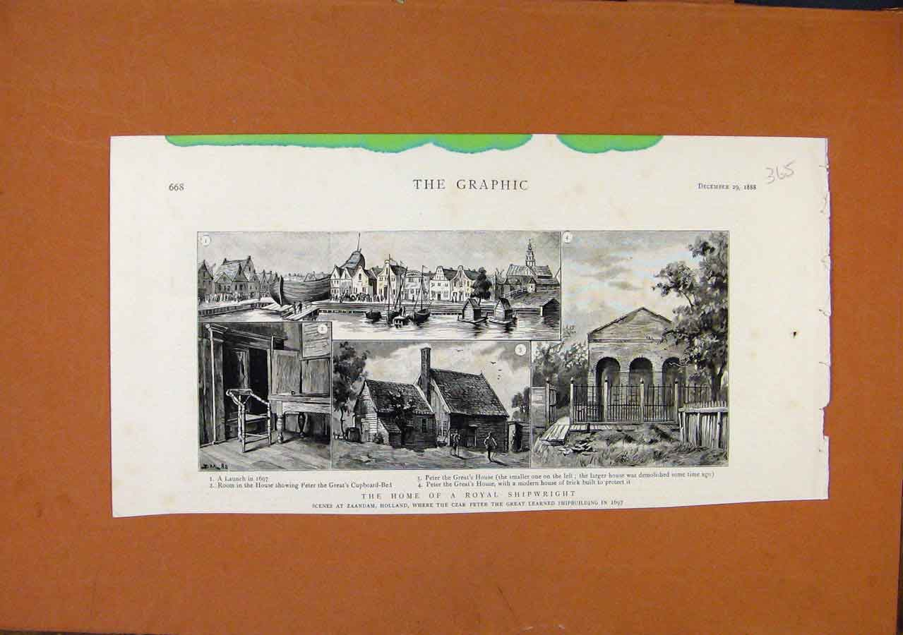 Print Home Royal Shipwright C1888 The Graphic 658270 Old Original