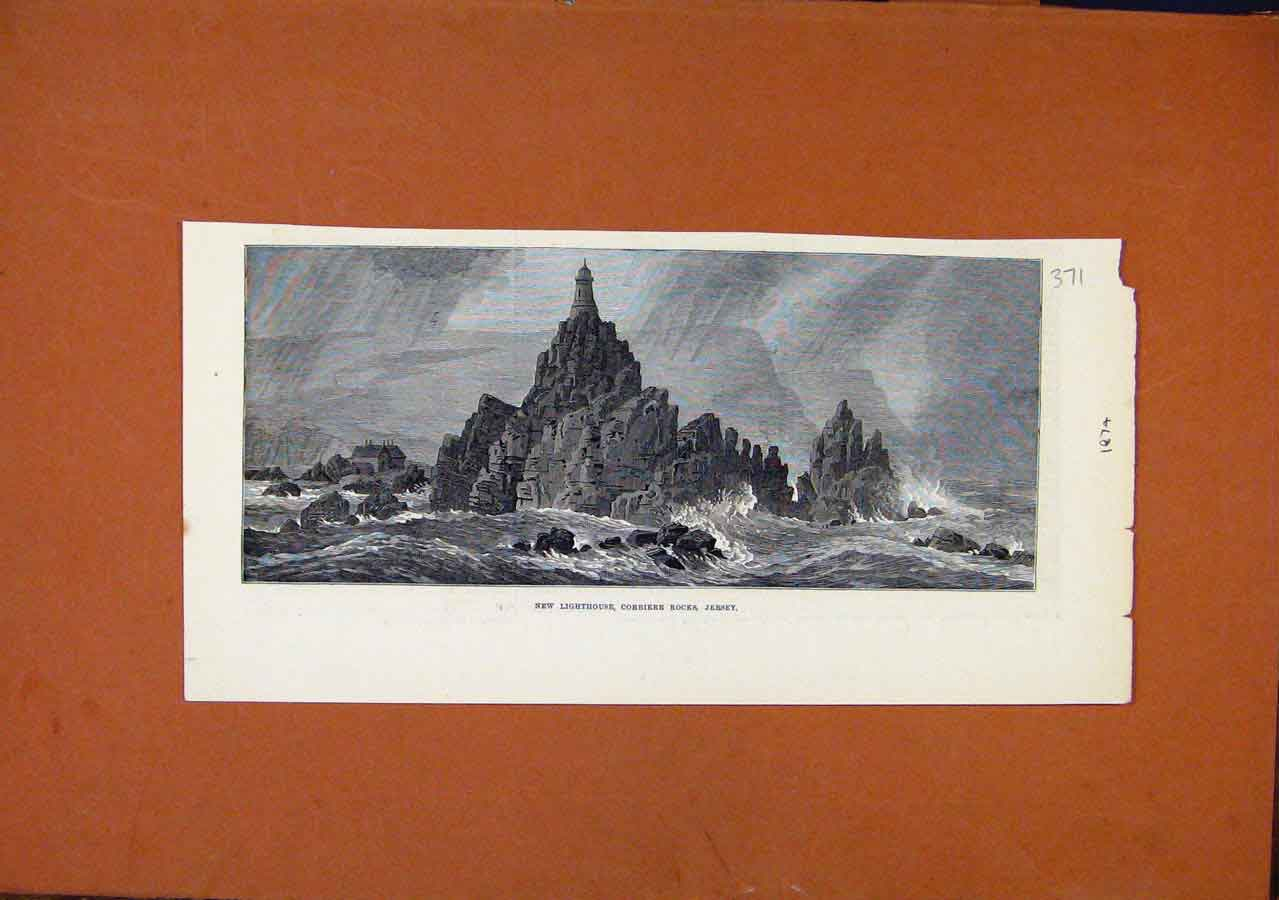 Print New Lighthouse Corbiere Rocks Jersey C1874 718270 Old Original