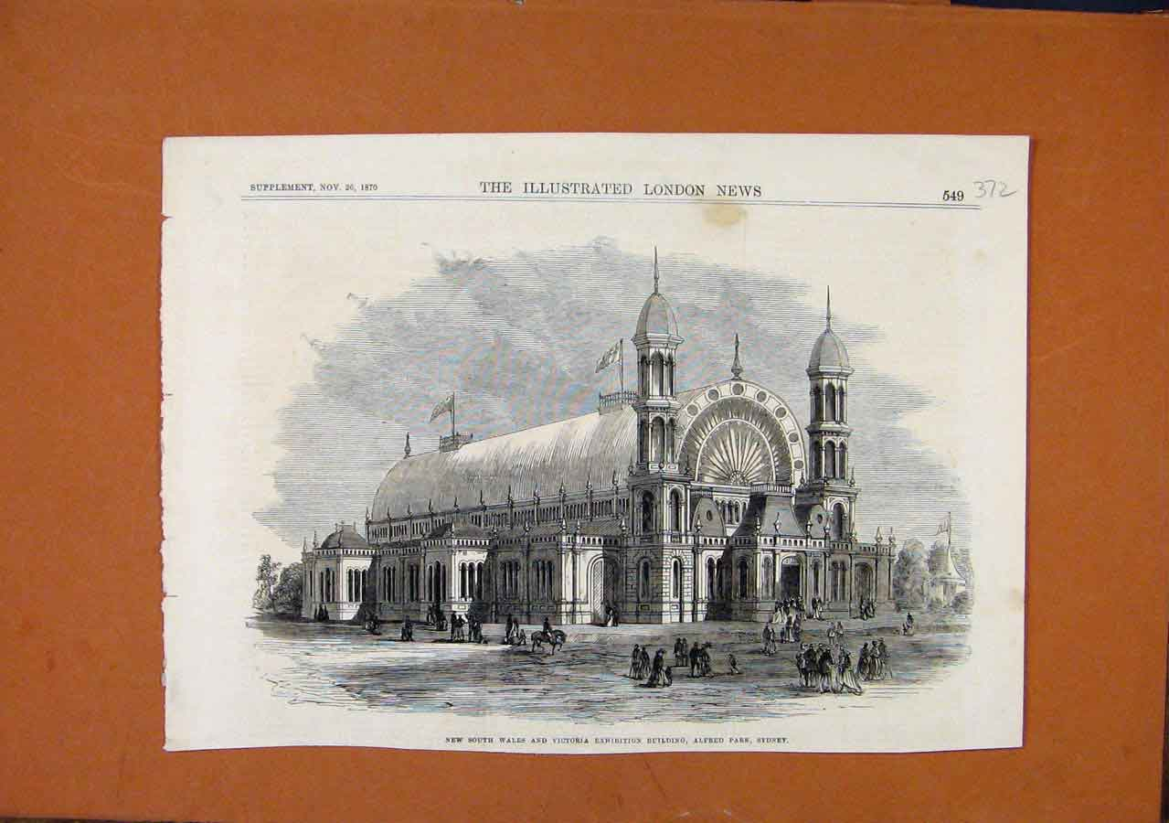 Print New South Wales Victoria Exhibition Sydney C1870 728270 Old Original