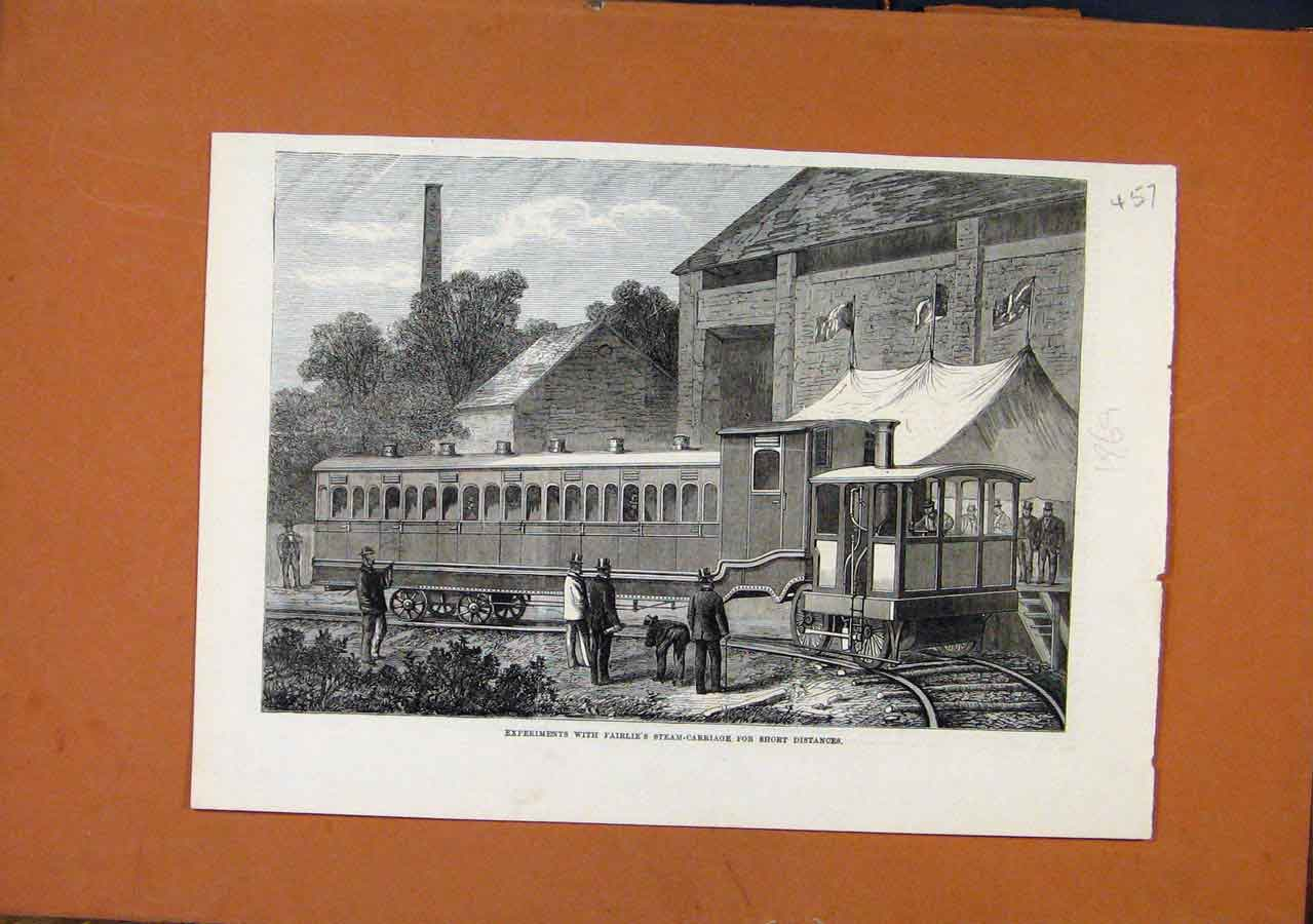 Print Experiments Fairlies Steam Carriage C1869 578270 Old Original