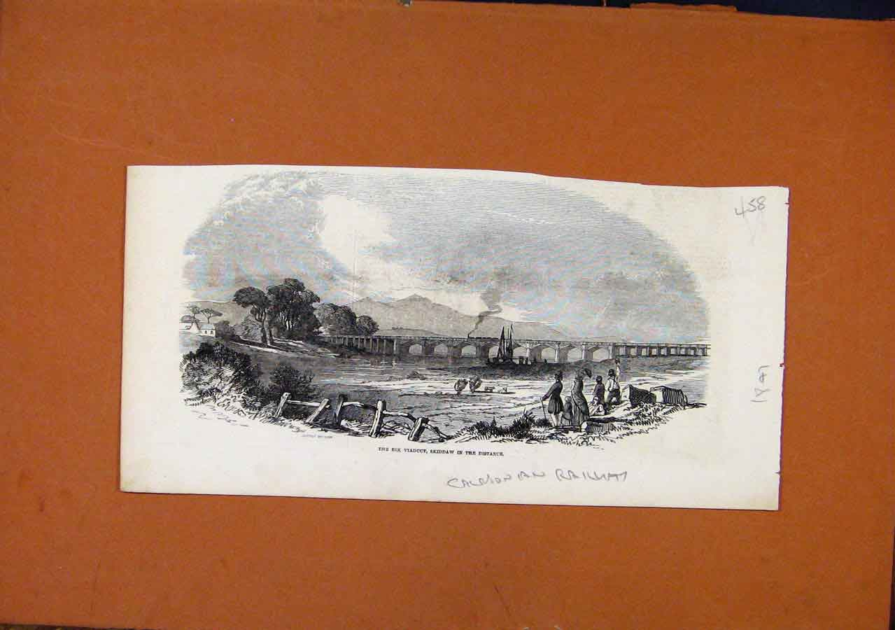 Print Esk Viaduct Skiddaw Railway C1847 588270 Old Original