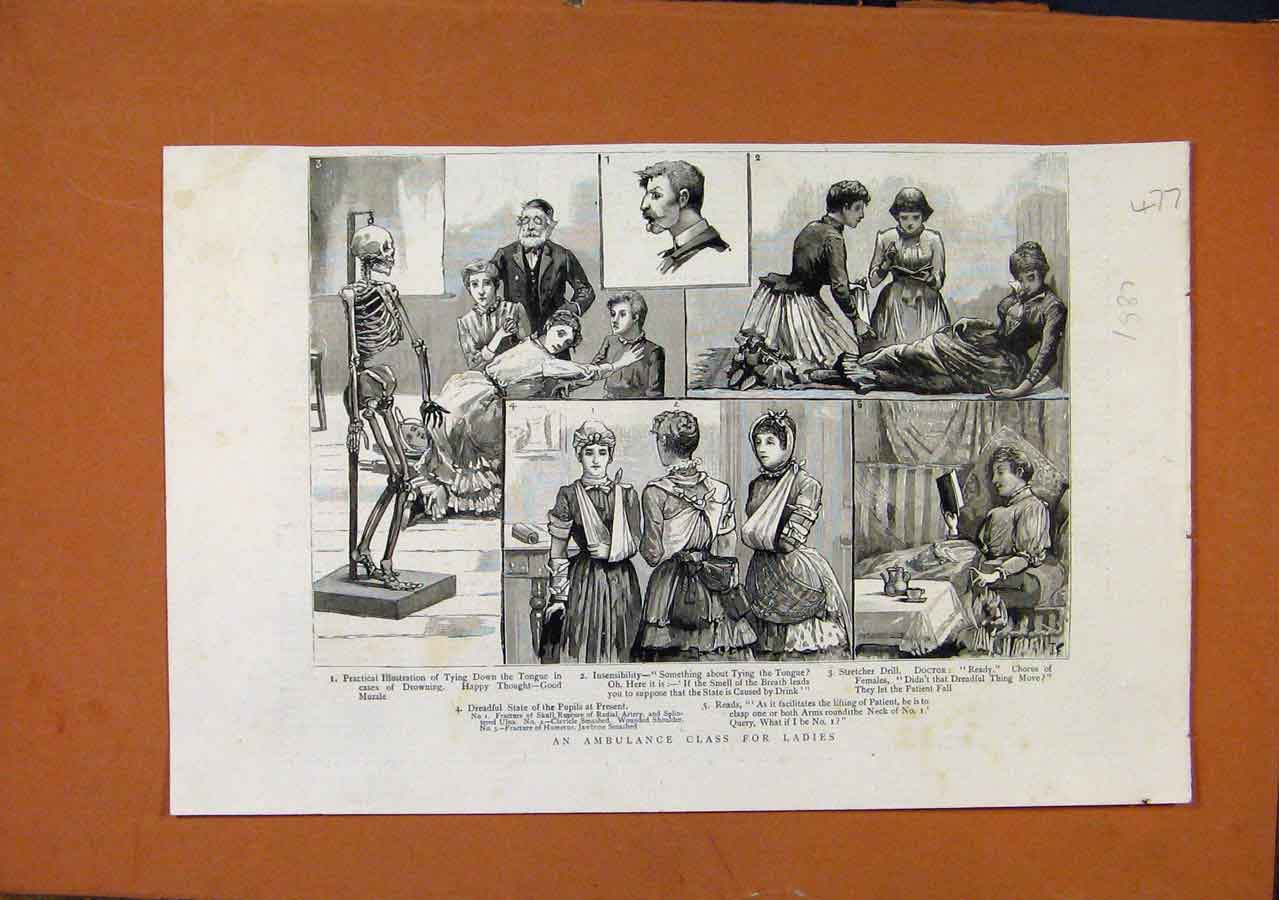 Print An Ambulance Class For Ladies C1887 778270 Old Original