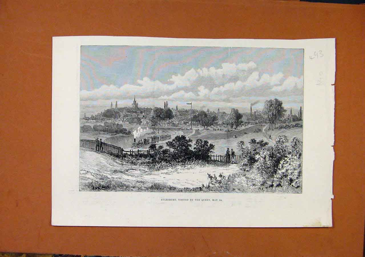 Print Aylesbury Visited By Queen C1890 938270 Old Original
