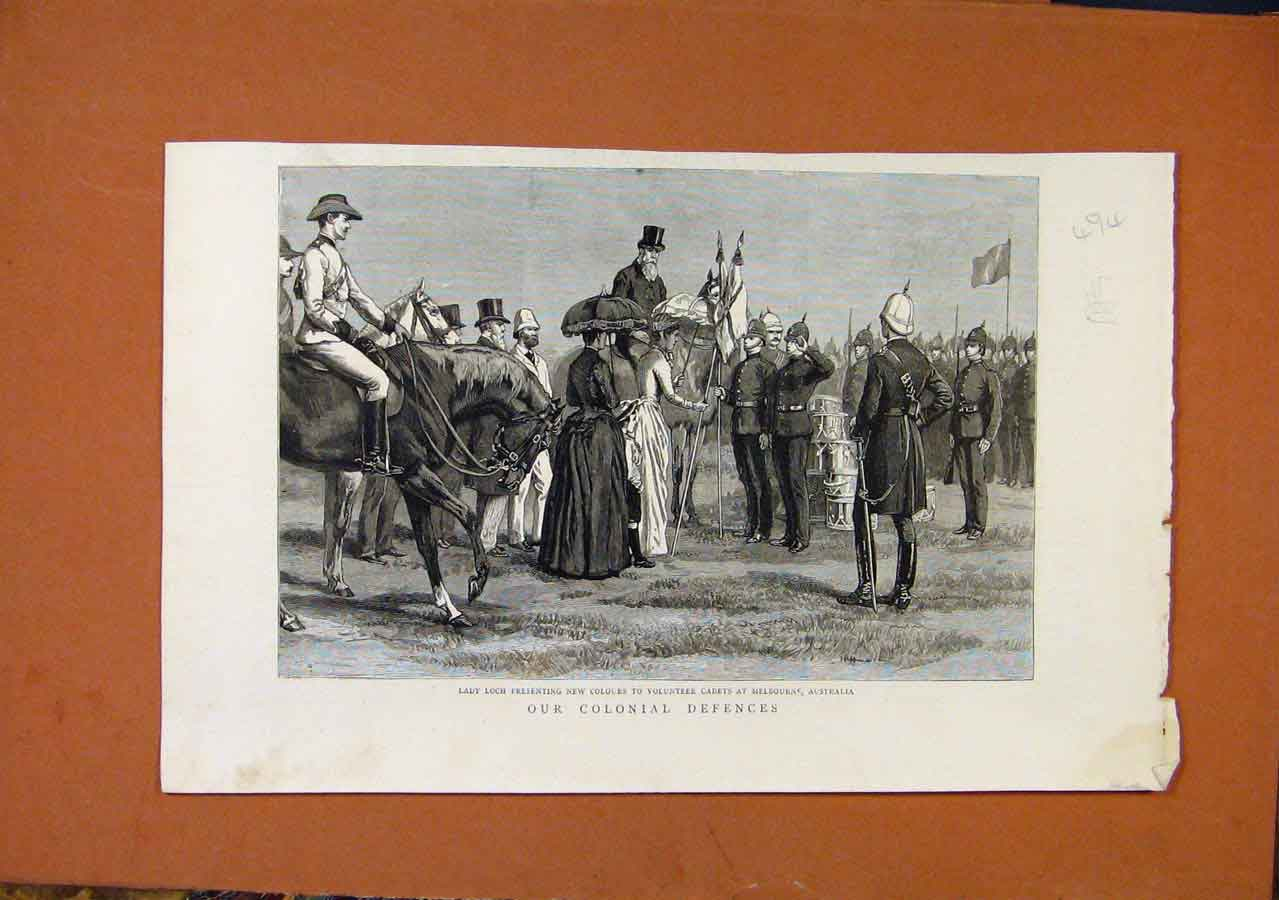 Print Our Colonial Defences C1889 Illustrated London News 948270 Old Original