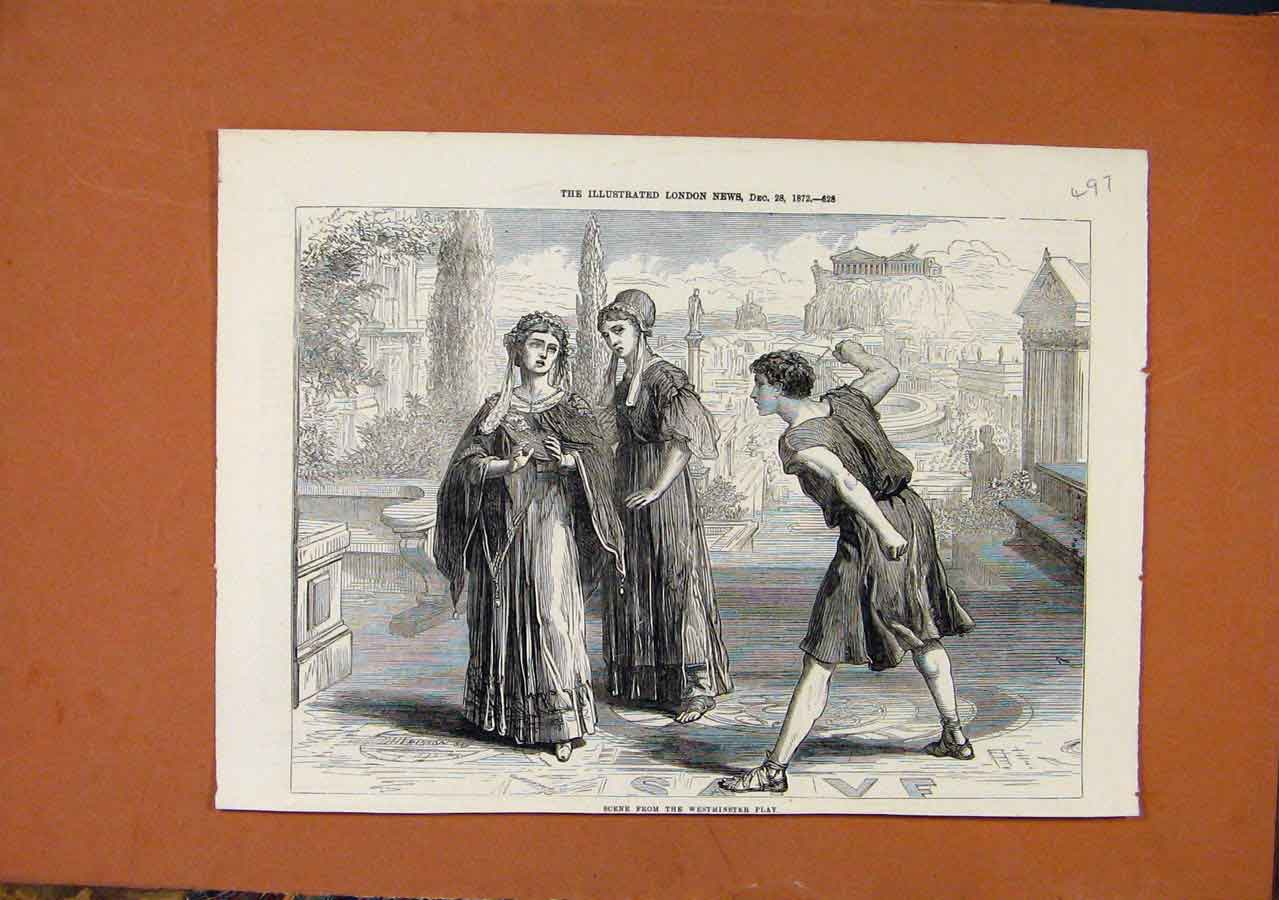 Print Westminster Plau C1872 Illustrated London News 978270 Old Original