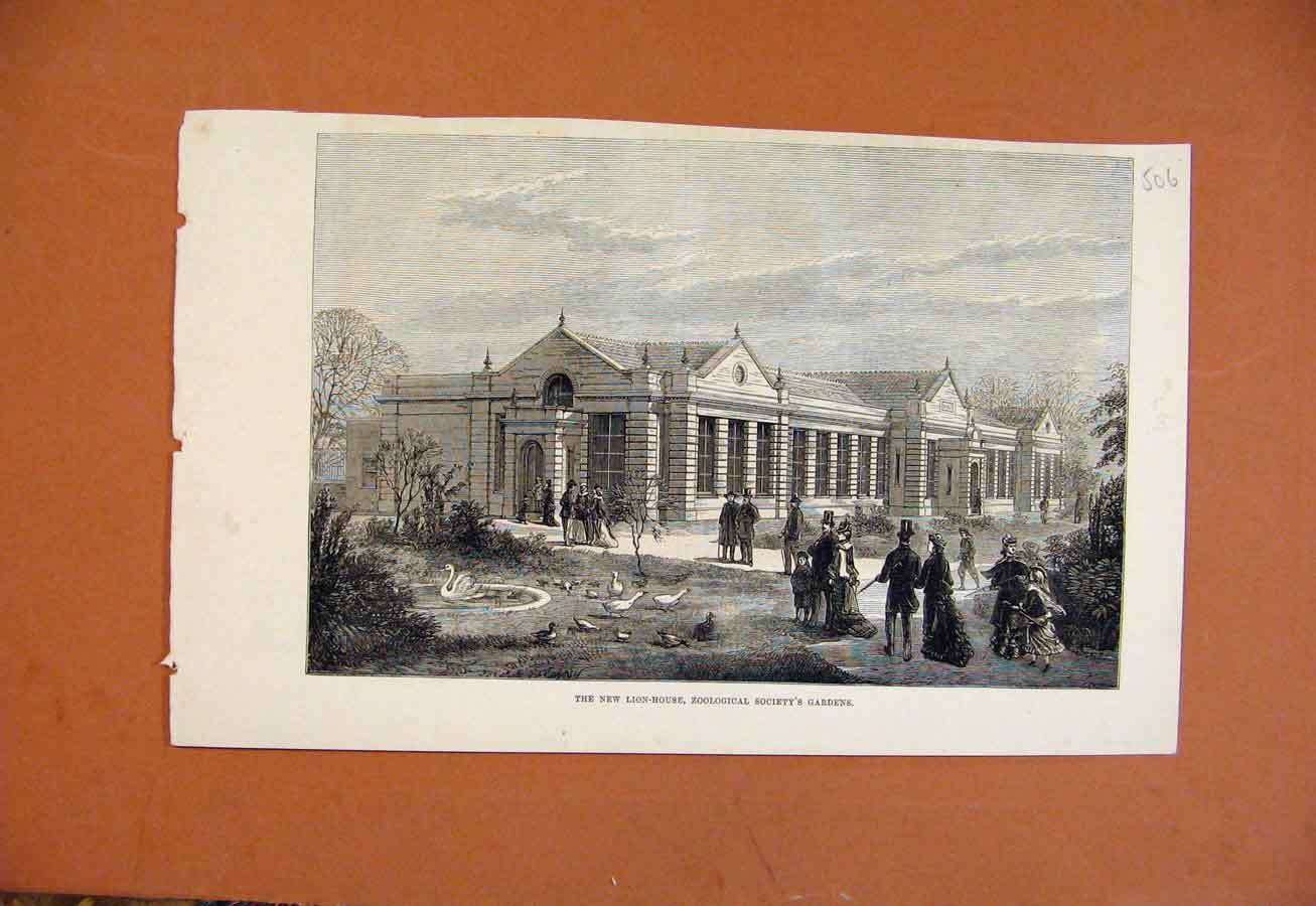 Print New Lion House Zoological Societys Gardens C1876 068270 Old Original
