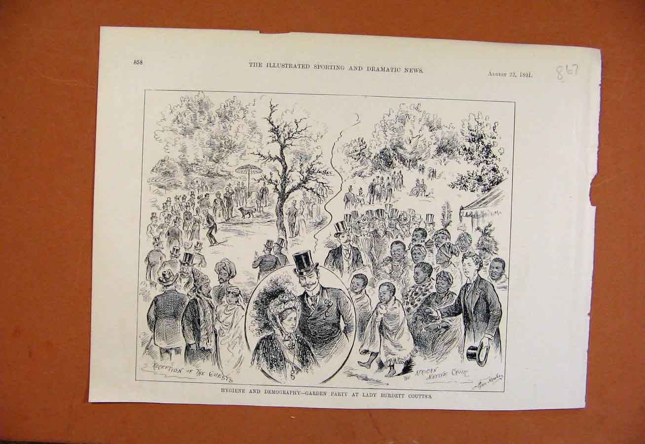 Print Sketches Kings College School Theatricals C1881 678270 Old Original