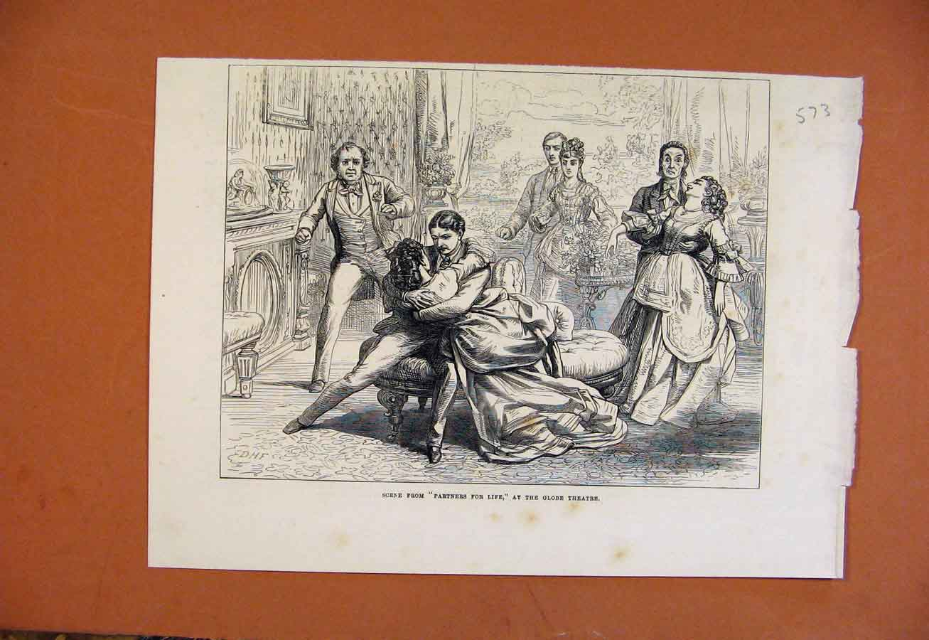 Print Scene From Partners For Life At Globe Theatre 738270 Old Original