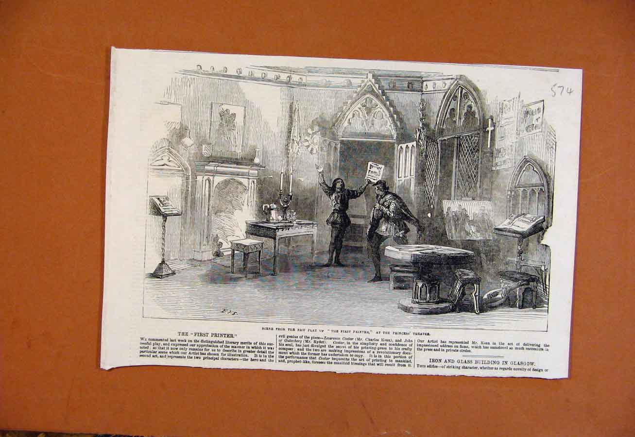 Print Scene From First Er Princess Theatre 748270 Old Original