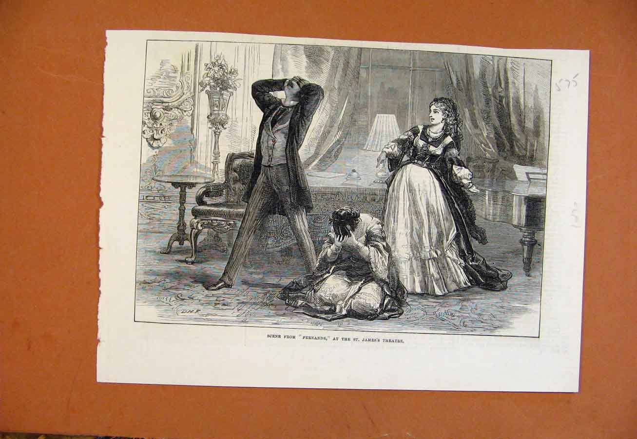 Print Fernande St James Theatre C1877 From London News 758270 Old Original