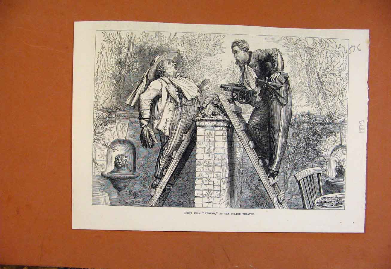 Print Scene From Nemesis Strand Theatre C1873 768270 Old Original