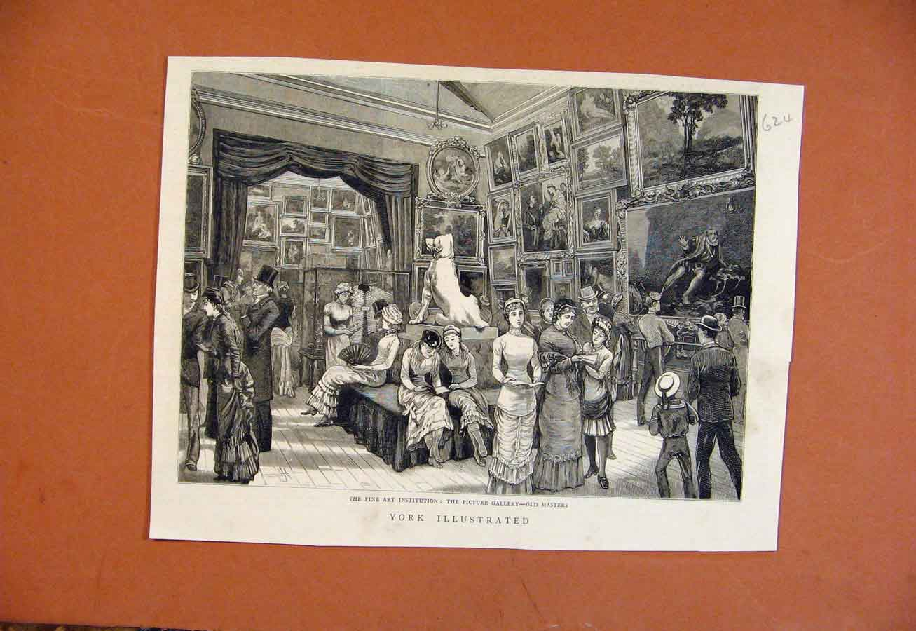 Print Fine Art Institution Picture Gallery Masters 248270 Old Original