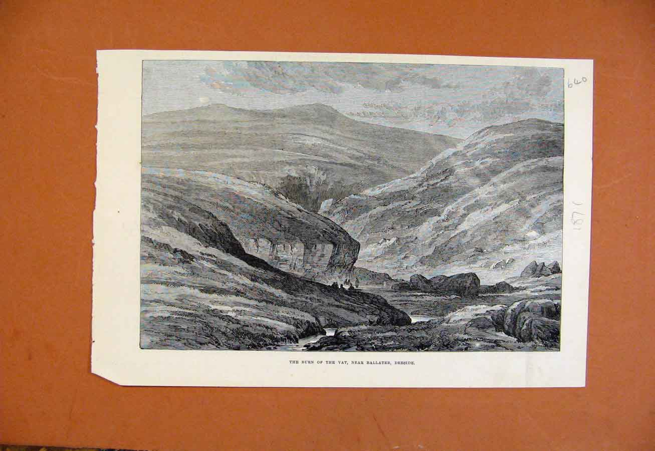 Print Burn The Vat Near Ballater Deeside C1871 408270 Old Original
