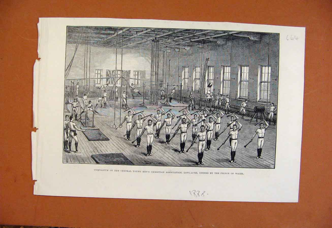 Print Gymnasium Central Youn Mens Christian Association 1888 648270 Old Original
