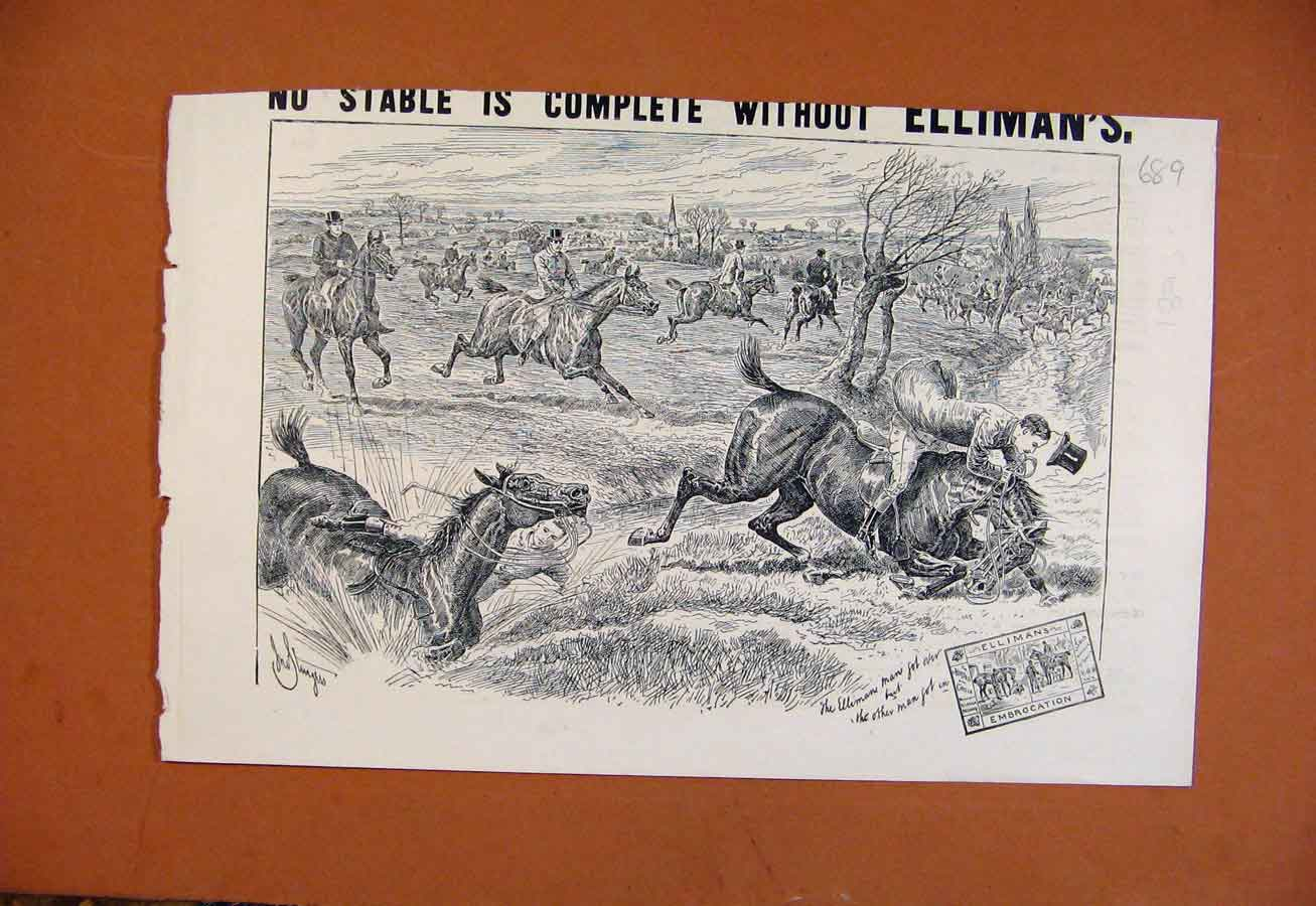 Print Ellimans Embrocation C1893 From London News 898270 Old Original