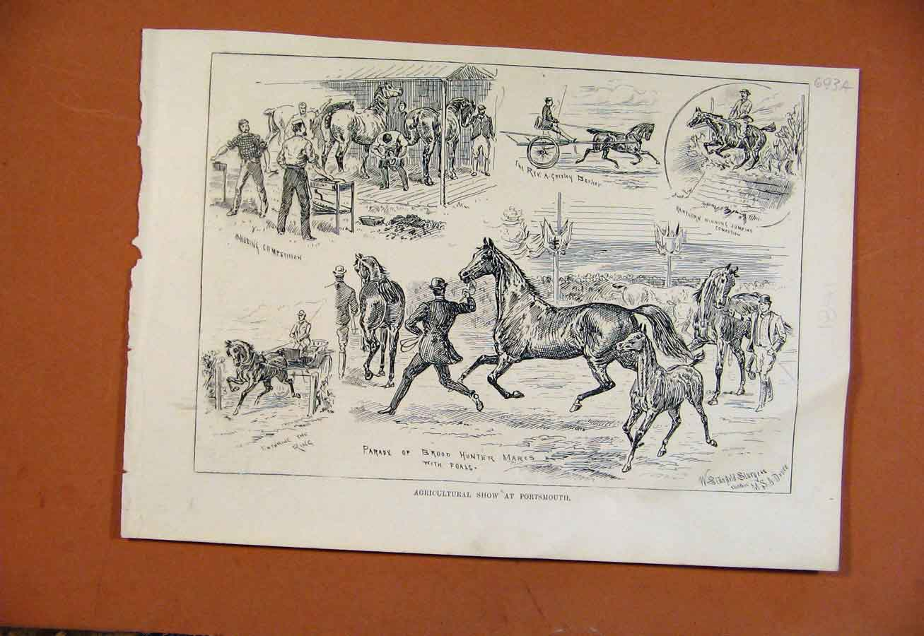 Print Agricultural Show Portsmouth From London News 93A8270 Old Original