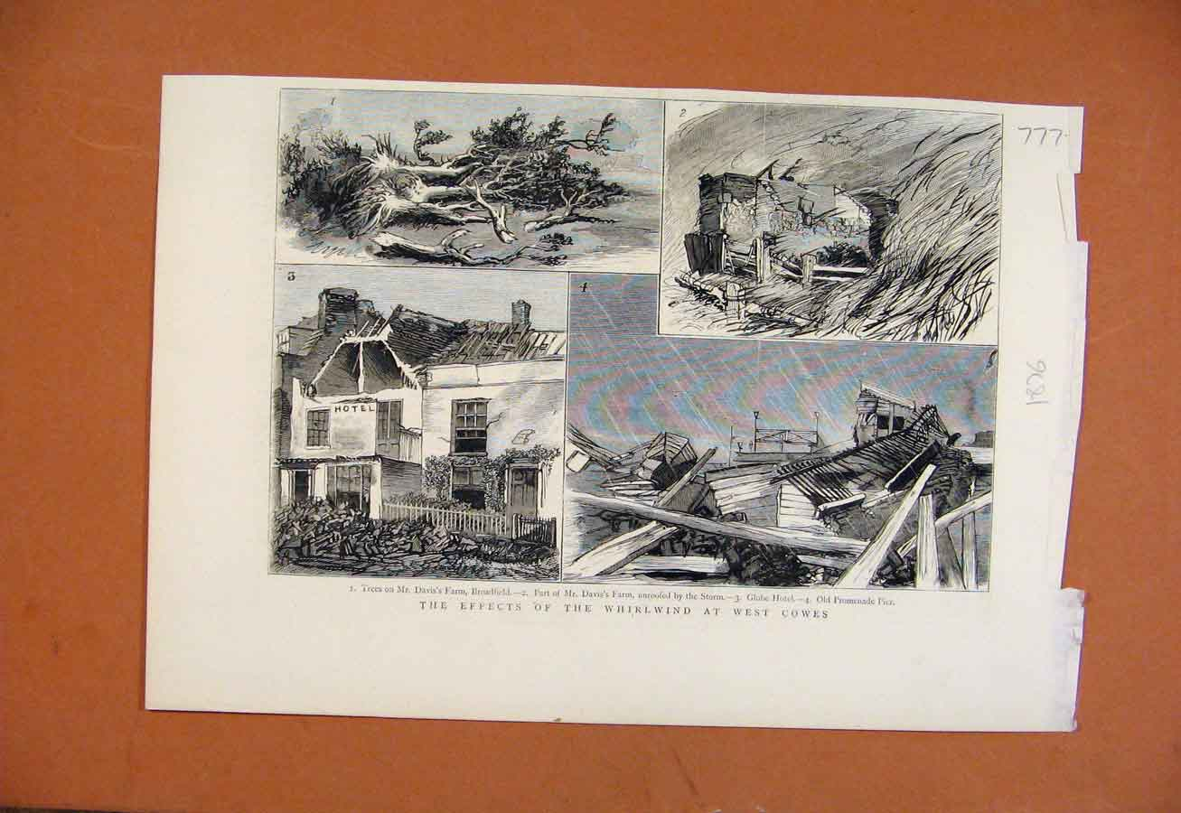 Print Effects Whirlwind West Cowes C1876 778270 Old Original