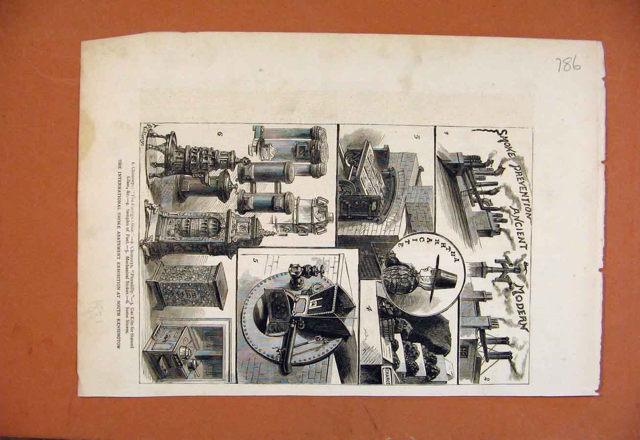Print International Smoke Abatement Exhibition Kensington 868270 Old Original