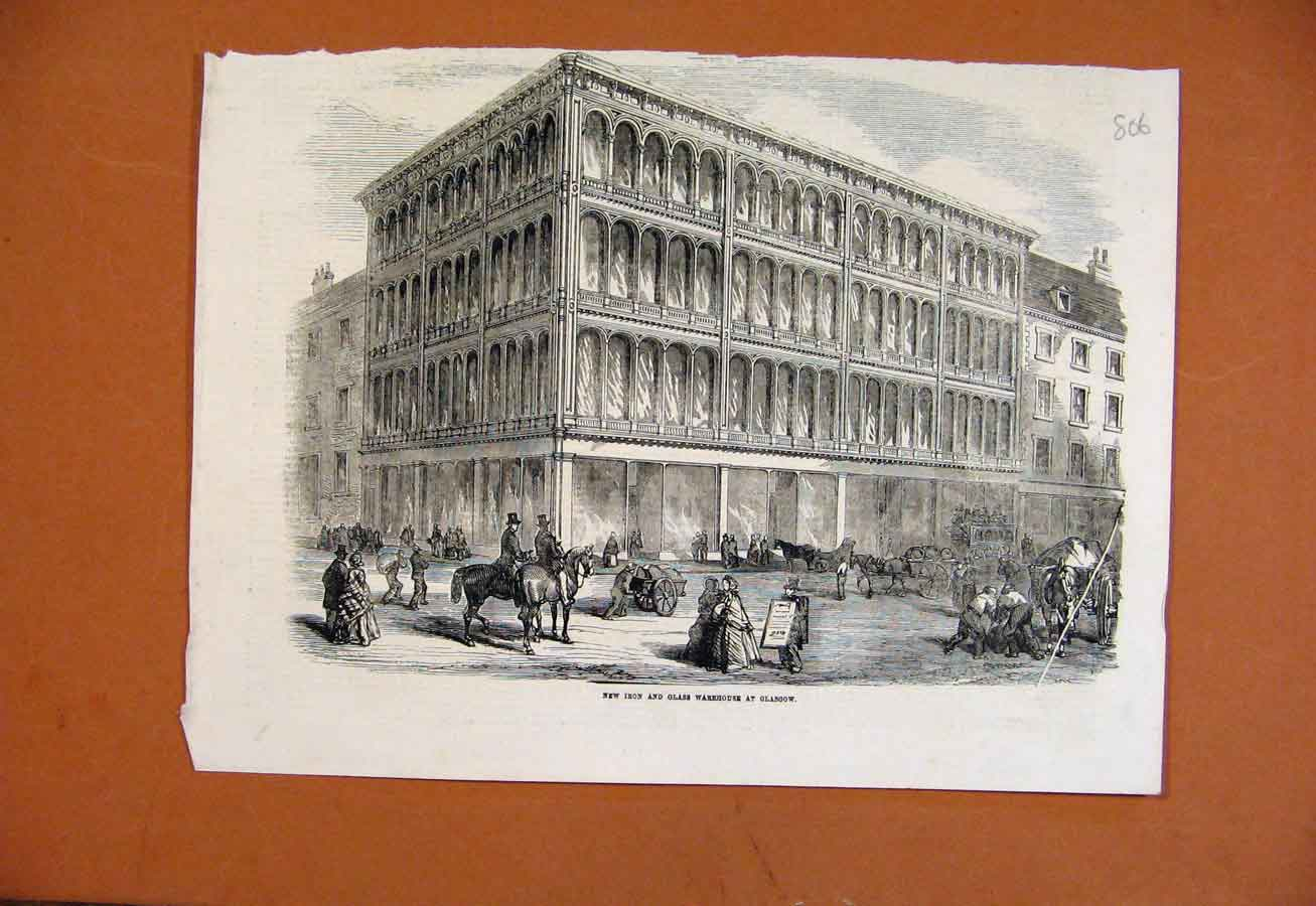 Print New Iron Glass Warehouse Glasgow 068270 Old Original