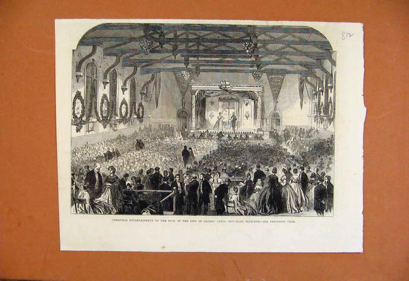Print Christmas Entertainment For Poor London 128270 Old Original
