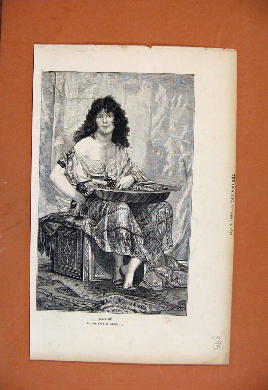 Print Salome The Graphic C1872 998270 Old Original