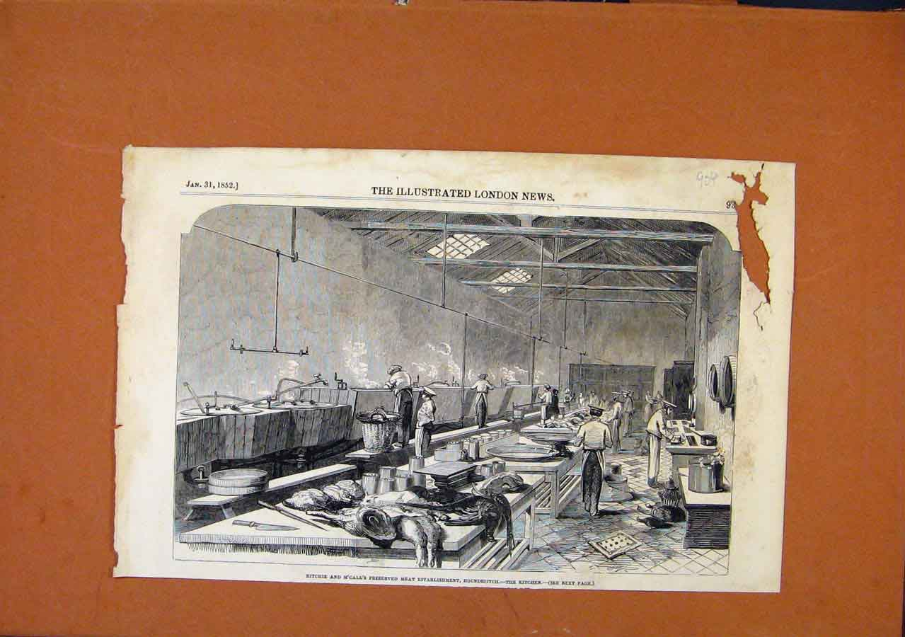 Print Cabin In Vineyard C1854 London News 038270 Old Original