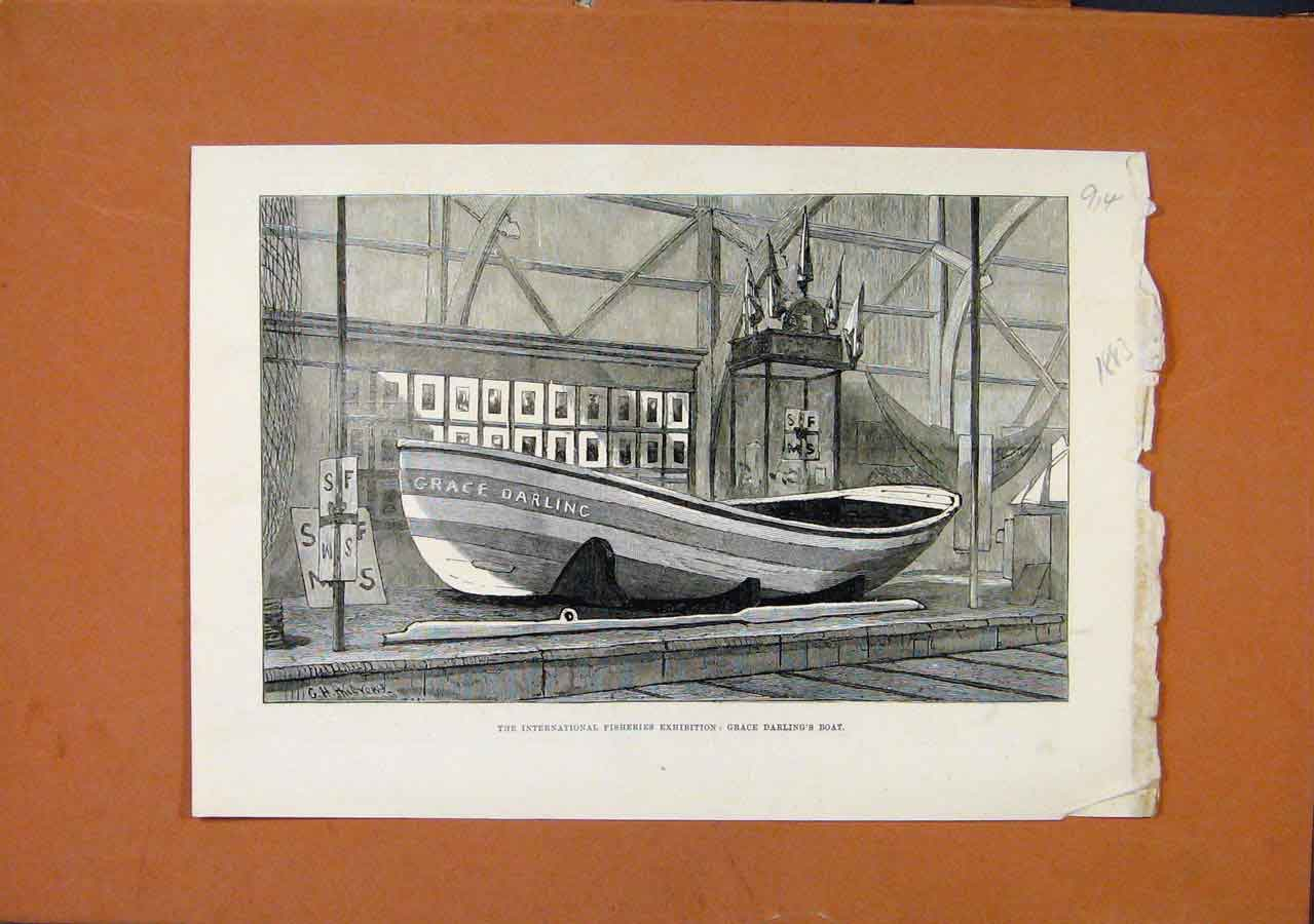 Print International Fisheries Exhibition C1883 London News 148270 Old Original