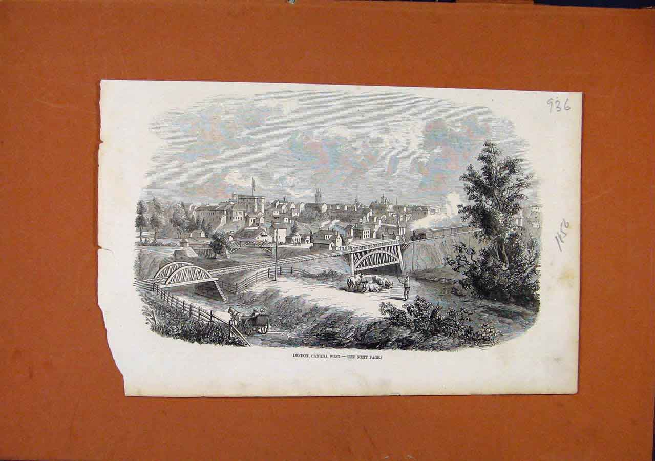 Print London Canada West C1856 Illustrated London News 368270 Old Original