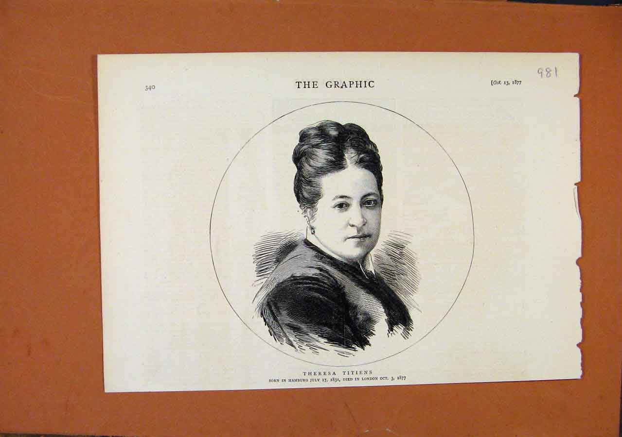 Print Portrait Theresa Titiens C1877 The Graphic 818270 Old Original