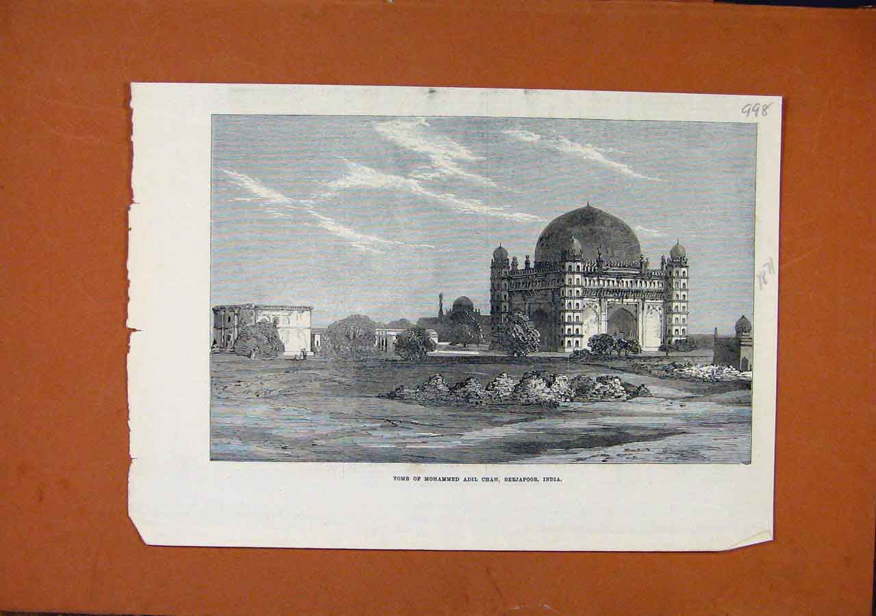 Print Tomb Mohammed Adil Chah Beejapoor India C1871 988270 Old Original