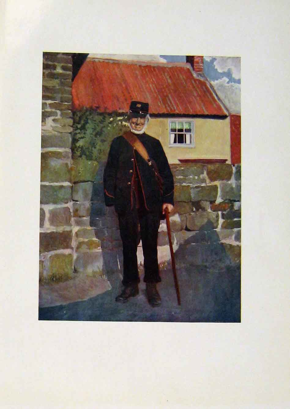 Print Yorkshire Coast And Moorland Postman Color Art 278301 Old Original