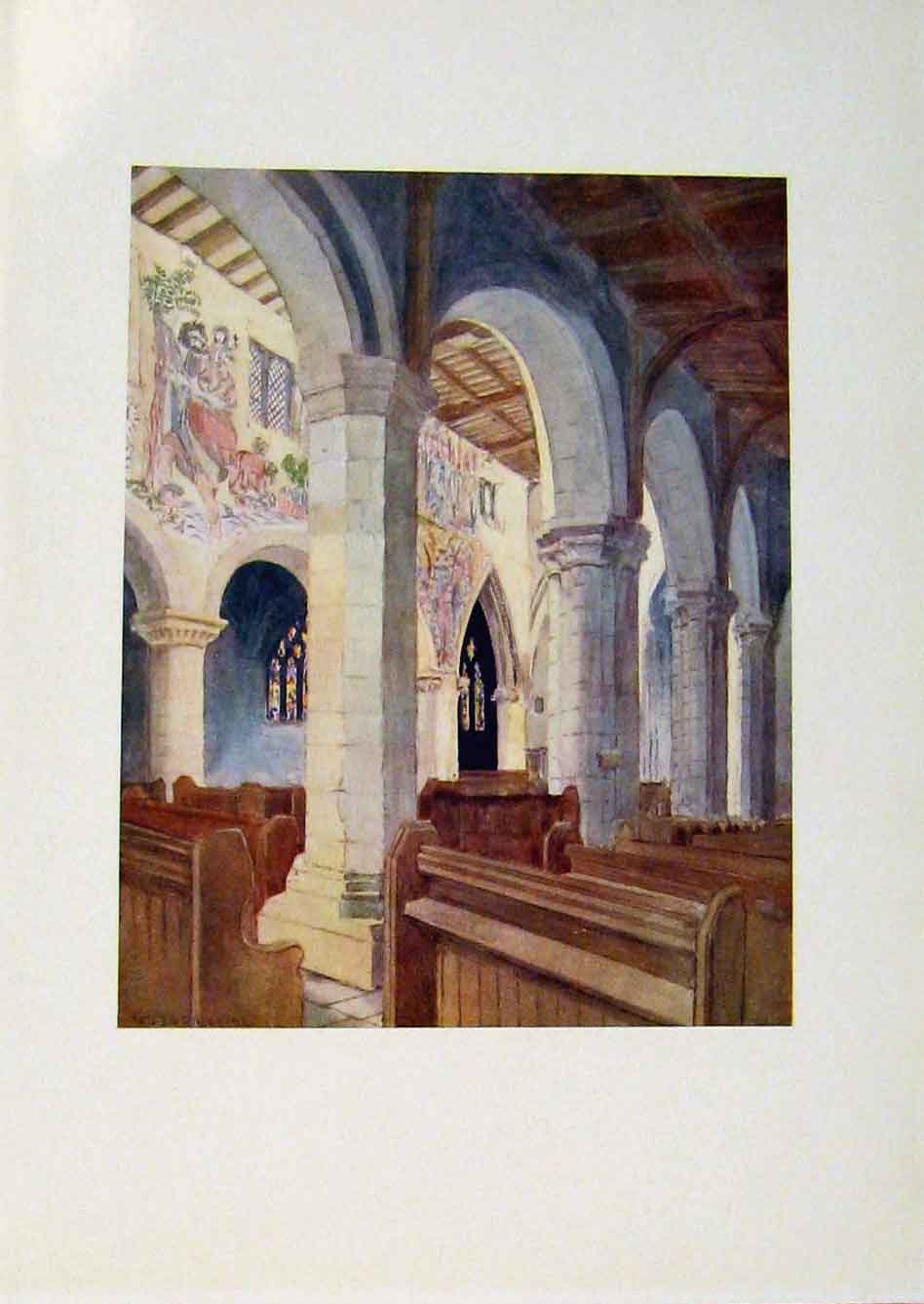 Print Yorkshire Coast And Moorland In Pickering Church 298301 Old Original