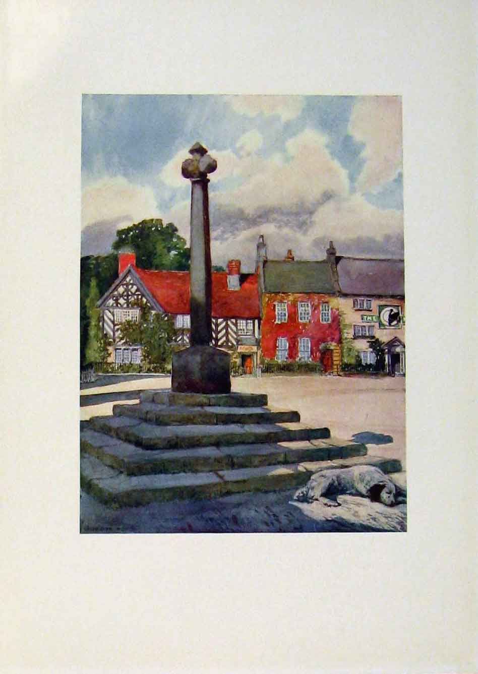 Print Yorkshire Coast And Moorland Market Place Helmsley Art 308301 Old Original