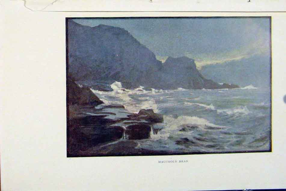 Print Isle Man By Donald Maxwell Maughhead C1909 158381 Old Original