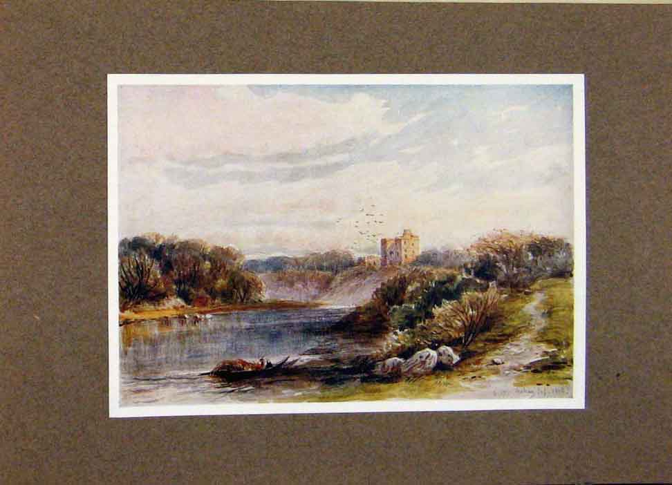 Print View Norham Castle By James Orrock Border Country 058391 Old Original