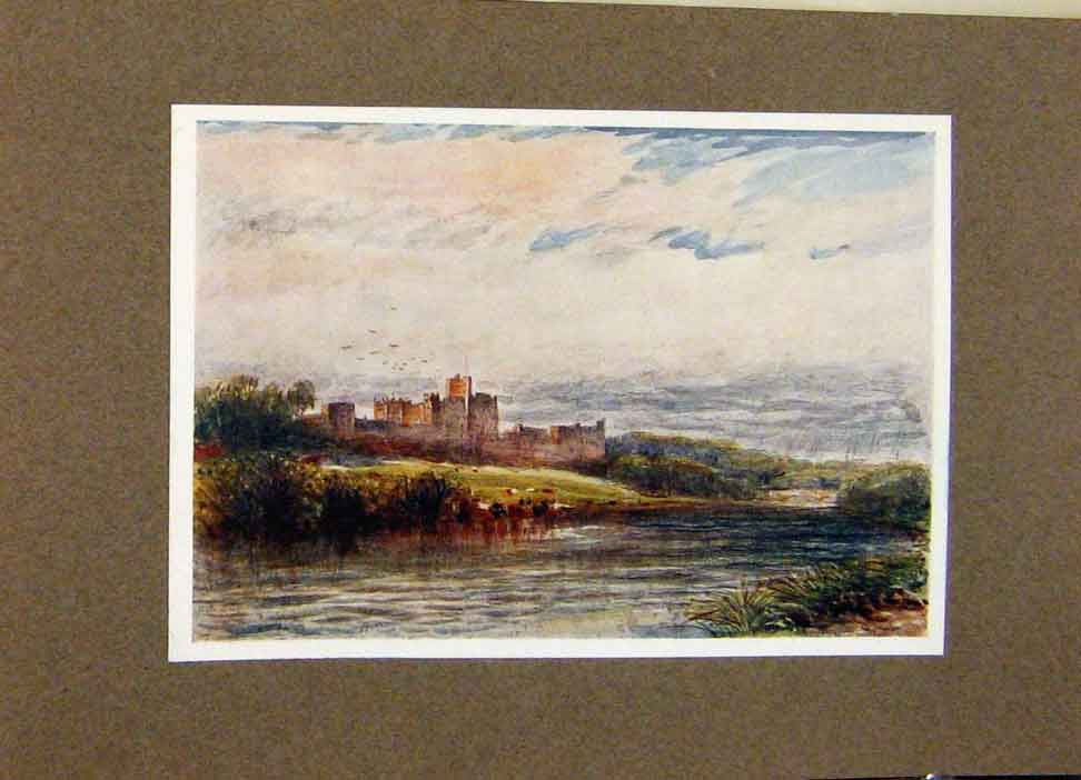 Print View Alnwick Castle By James Orrock Border Country 098391 Old Original