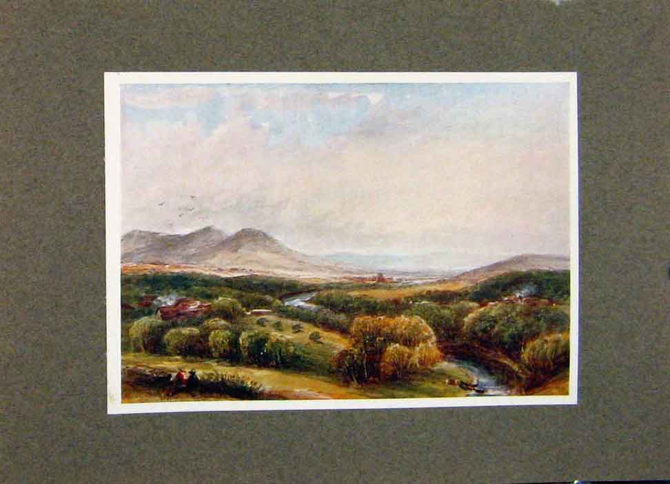 Print Melrose And The Eildons Bemersyde By James Orrock 168391 Old Original